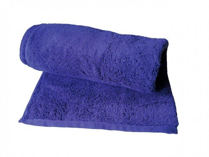 Flauschiges Duschtuch, blau