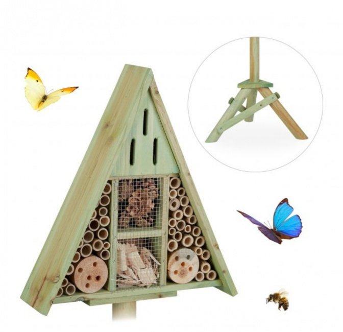 Insektenhotel Dreieck-Ständer