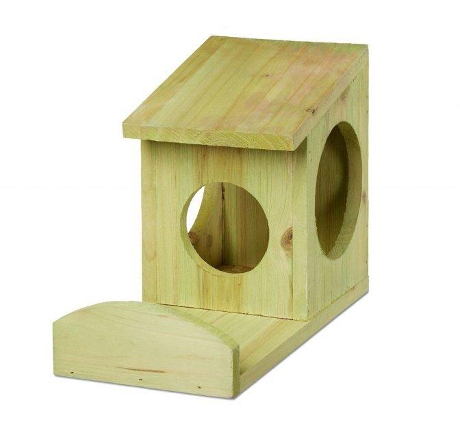 Eichhörnchen-Futterhaus grün