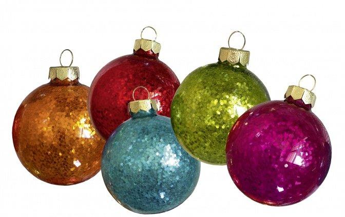 """Glas-Weihnachtskugeln mit LED-Beleuchtung """"bunt"""""""